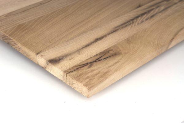 Maßgefertigte Tischplatte aus Eiche Altholz, naturbelassen